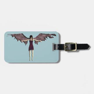 dark angel luggage tag