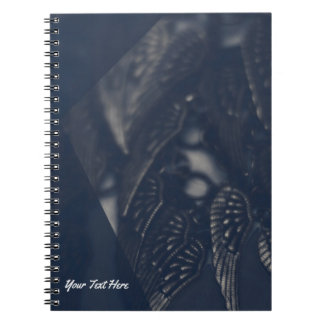 Dark Angel Wings Gothic Glam Personalized Spiral Notebooks