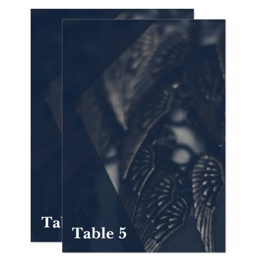Dark Angel Wings Gothic Glam Table Number Card