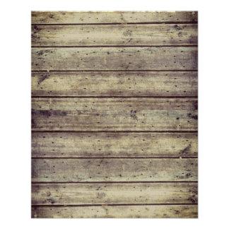 Dark Antiqued Planked Wood Scrapbook Paper