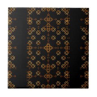 Dark Arabic Ornate Ceramic Tile