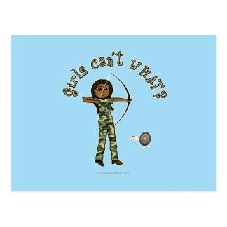 Dark Archery in Camouflage Postcard