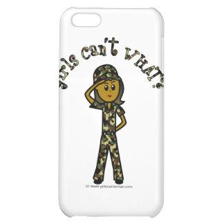 Dark Army Woman iPhone 5C Cases