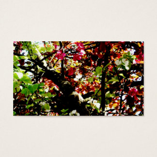 Dark Autumn Leaves Business Card