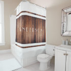 Dark Barn Wood and White Country Personalized