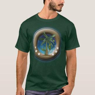 Dark basic T-shirt for man, green