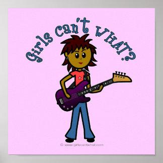 Dark Bass Guitar Girl Posters