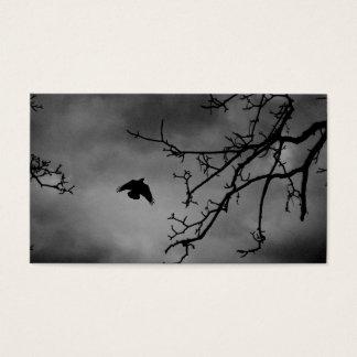 Dark Bird in Flight Business Card