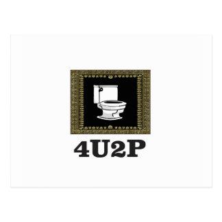 dark black 4u2p postcard