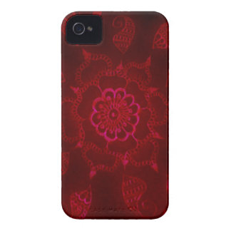 Dark Blood Mehndi iPhone 4 Case-Mate Case