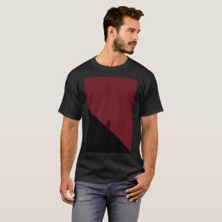 Dark Bloody Red Climb Staircase Modern T-Shirt