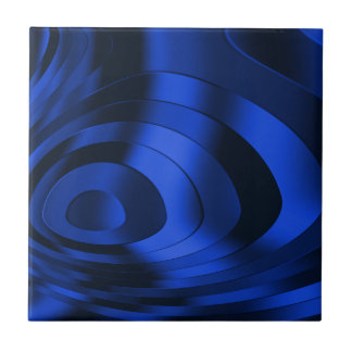 Dark Blue Abstract Ceramic Tile