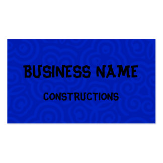 Dark Blue Abstract Pattern Business Card