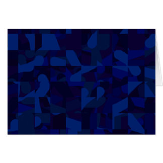 Dark Blue Abstract Pattern. Greeting Card