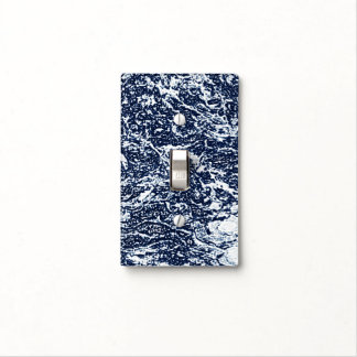 Dark Blue Abstract Pattern Light Switch Cover