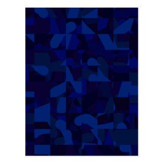 Dark Blue Abstract Pattern. Postcard