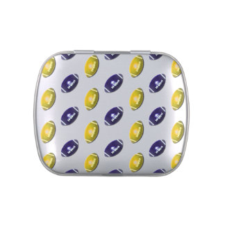 Dark Blue and Gold Football Pattern