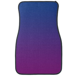 """Dark Blue And Purple Ombre"" Car Mat"
