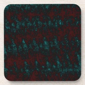 Dark Blue and Red Art Beverage Coasters