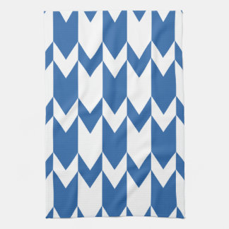 Dark Blue and White Chevron Pattern. Kitchen Towel