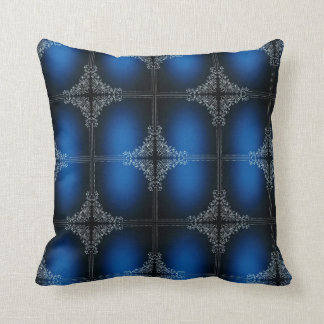 Dark Blue And White Flower Decoration Throw Pillow