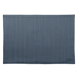 Dark Blue and White Pinstripe Placemat