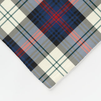 Dark Blue and White Sutherland Clan Dress Tartan Fleece Blanket