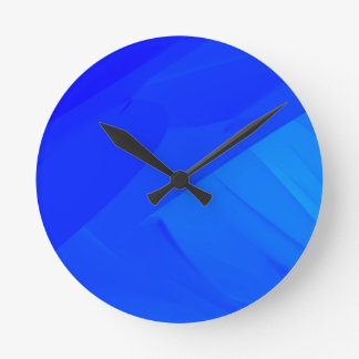Dark Blue Backdrop Round Clock