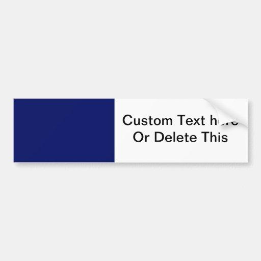 Dark Blue Background Bumper Stickers