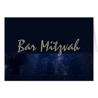 Dark Blue Bar Mitzvah Card