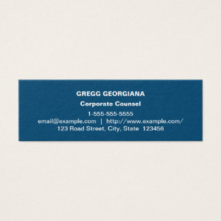 Dark Blue Basic Corporate Counsel Business Card