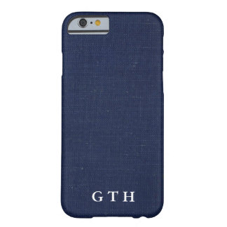 Dark Blue Book Back Texture Barely There iPhone 6 Case
