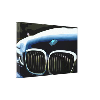 Dark Blue Car Canvas