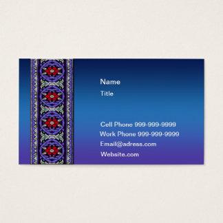 Dark Blue Celtic Lace Business Card