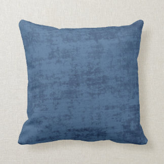 Dark Blue Chenille Fabric Texture Throw Pillow