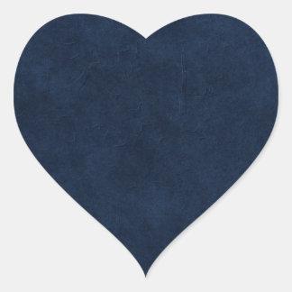 Dark Blue Circle Corner Heart Stickers