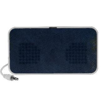 Dark Blue Circle Corner iPod Speaker