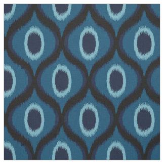 Dark blue color moroccan ikat design fabric