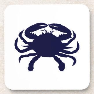 Dark Blue Crab Coasters