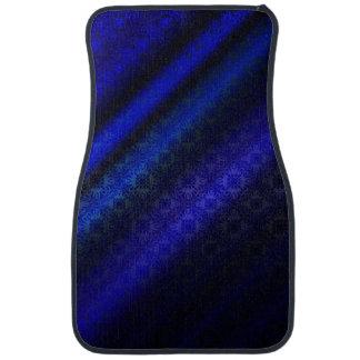 Dark Blue Damask Auto Mat