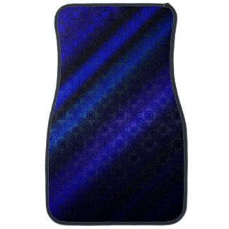 Dark Blue Damask Car Mat