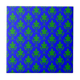 Dark Blue & Dark Green Ornate Wallpaper Pattern Tile