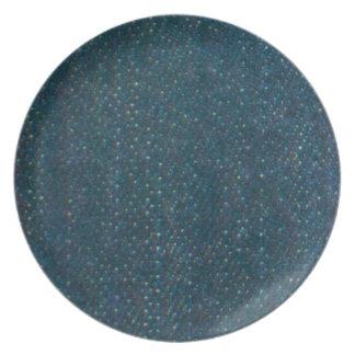 Dark Blue Denim Dinner Plates