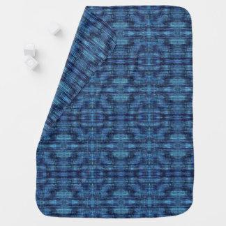 Dark Blue Denim Pattern Baby Blanket