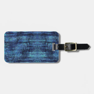 Dark Blue Denim Pattern Luggage Tag