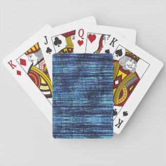 Dark Blue Denim Pattern Playing Cards