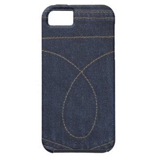 Dark Blue Denim Pocket Case For The iPhone 5