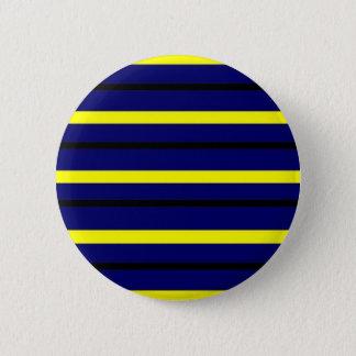 Dark Blue Derby Stripe 2 Inch Round Button