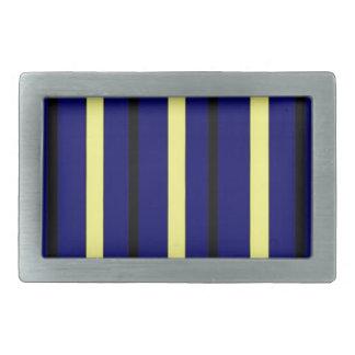 Dark Blue Derby Stripe Belt Buckle