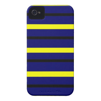 Dark Blue Derby Stripe iPhone 4 Case